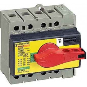 28920 Выключатель нагрузки(рубильник) экстр. Interpact Compact  INS80 3-полюса 80А с красной ручкой