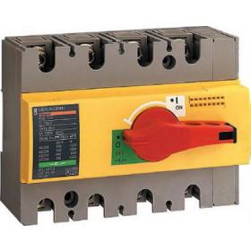 28925 Выключатель нагрузки(рубильник) экстр Interpact Compact  INS100 4-полюса 100А с красной ручкой