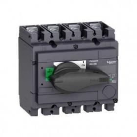 31105 Выключатель нагрузки(рубильник) Interpact Compact  INS250-160А 4-полюса 160А с чёрной ручкой