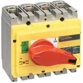 31127 Выключатель нагрузки(рубильник) экстр Interpact Compact  INS250 4-полюса 250А с красной ручкой