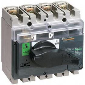 31163 Выключатель нагрузки(рубильник) Interpact Compact  INV200 4-полюса 200А с чёрной ручкой
