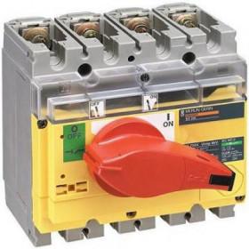 31182 Выключатель нагрузки(рубильник) экстр. Interpact Compact  INV200 4-полюса 200А с красной ручк.