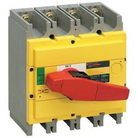 31133 Выключатель нагрузки(рубильник) экстр Interpact Compact  INS500 4-полюса 500А с красной ручкой