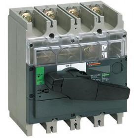 31173 Выключатель нагрузки(рубильник) Interpact Compact  INV500 4-полюса 500А с чёрной ручкой