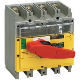 31191 Выключатель нагрузки(рубильник) экстр. Interpact Compact  INV400 4-полюса 400А с красной ручк.
