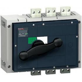 31334 Выключатель нагрузки(рубильник) Interpact Compact  INS1250 3-полюса 1250А с чёрной ручкой