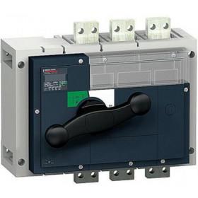 31363 Выключатель нагрузки(рубильник) Interpact Compact  INV1250 4-полюса 1250А с чёрной ручкой