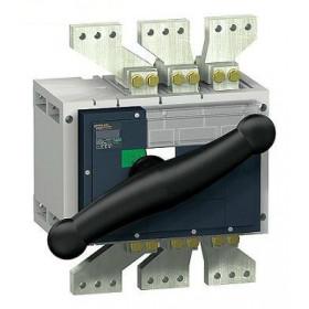 31369 Выключатель нагрузки(рубильник) Interpact Compact  INV2500 4-полюса 2500А с чёрной ручкой