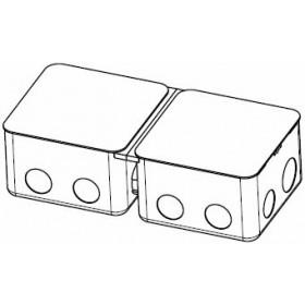 Коробка монтажная для заливки в пол 2*4 модуля сталь, арт. 54003