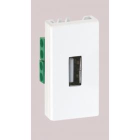 """K128B-9 Разъём USB 2.0 тип """"А"""", 45х22.5мм, БЕЛЫЙ"""