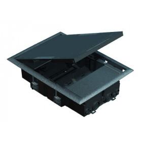 KF200-1 Лючок на 4 модуля 45х45мм и 2 модуля 22,5х45мм, глубина 64мм, СЕРЫЙ