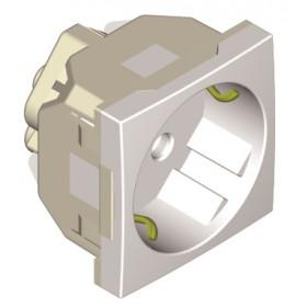 45131 SBR Efapel Розетка электрическая 45х45 мм в кабель канал, белая