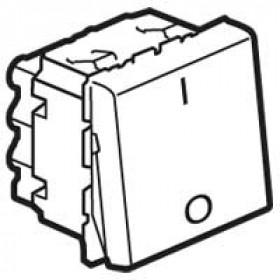77050 Mosaic Выключатель двухполюсный 2 модуля(45*45мм) 20АХ, БЕЛЫЙ
