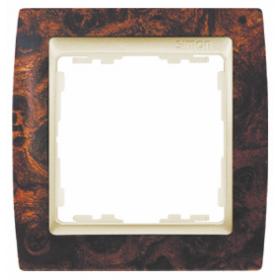 82915-68 Рамка 1-ая серия Simon 82, Корень ореха-Шампань