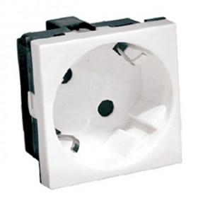 851204 Розетка 2к+3 с защитными шторками, под углом 45 градусов (LK45), БЕЛАЯ
