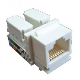 856100 Механизм розетки компьютерной RJ-45, Cat 5e, UTP модуль (8 контактов) LK45