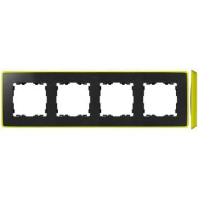 8201640-262 Рамка 4-ая Simon 82 Detail Select Графит-Основание Неоново-Жёлтое