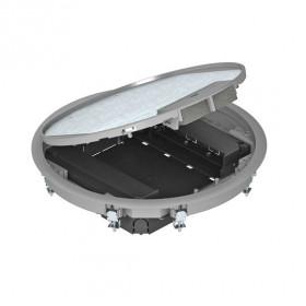 7405047 Лючок напольный GESR9 55U V  на 8 механизмов круглый, СЕРЫЙ