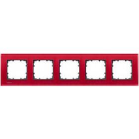 Рамка 5-ая Siemens Delta Miro Стекло красное 5TG12053 IP20