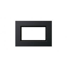 Рамка 1,5-ая Gira Esprit Алюминий/Черный 1001126 IP20
