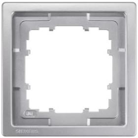 Рамка 1-ая Siemens Delta Style Платиновый металлик 5TG13211 IP20