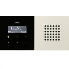 2280112 Встраиваемое радио с динамиком Gira F100 Глянцевый Белый