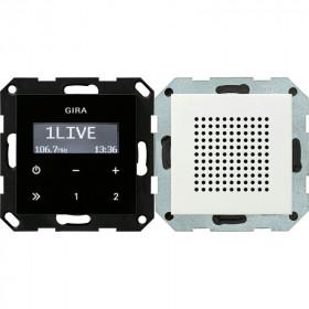 228027 Встраиваемое радио с динамиком Gira Standard 55 Матовый Белый