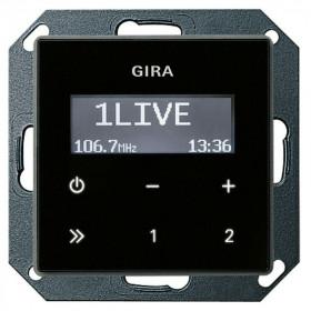 228405 Встраиваемое радио Gira Standard 55 Глянцевый Черный