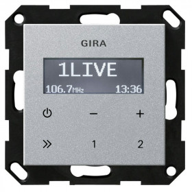 228426 Встраиваемое радио Gira Standard 55 Алюминий