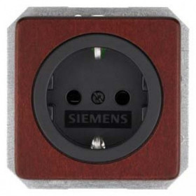 Розетка Siemens Delta Natur Красный клен 5UB1651 IP20