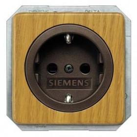 Розетка Siemens Delta Natur Светлый дуб 5UB1631 IP20