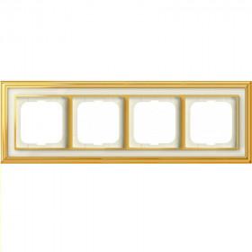 Рамка 4-ая ABB Династия Латунь полированная/Белое стекло 1754-0-4563 IP20