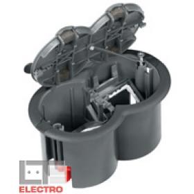 ETK44104 Лючок Ultra на 2 механизма 45*45 мм Schneider Electric Серый