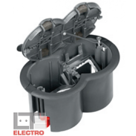 ETK44104 Лючок Ultra на 2 механизма 45*45 мм Серый