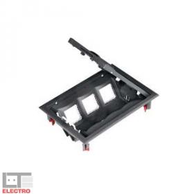 ETK44112 Лючок Ultra на 6 механизмов 45*45 мм Серый