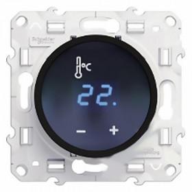 Термостат Schneider Electric Odace Алюминий S52R509 IP20 теплого пола с сенсорным дисплеем