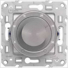 Термостат Schneider Electric Odace Алюминий S53R507 IP20 теплого пола