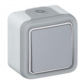 Выключатель Legrand Plexo Серый 69716 IP55 одноклавишный с 3-х мест накладной
