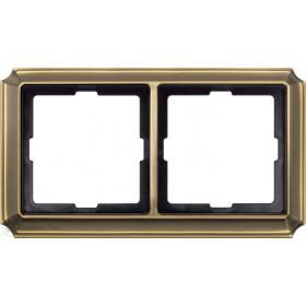 Рамка 2-ая Merten Antique Античная латунь MTN483243 IP20