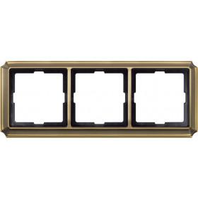 Рамка 3-ая Merten Antique Античная латунь MTN483343 IP20