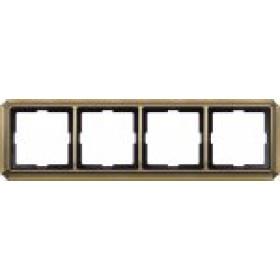 Рамка 5-ая Merten Antique Античная латунь MTN483543 IP20