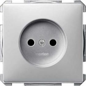 Розетка Merten System Design Алюминий MTN2000-4060 IP20