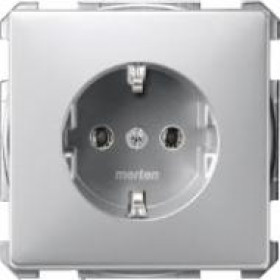 Розетка Merten System Design Алюминий MTN2301-4060 IP20