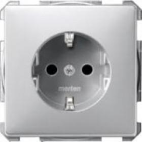 Розетка Merten System Design Алюминий MTN2300-4060 IP20