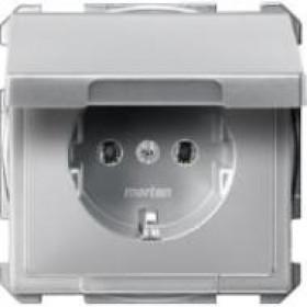 Розетка Merten System Design Алюминий MTN2311-4060 IP20