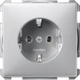 Розетка Merten System Design Алюминий MTN2401-4060 IP20