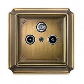 Накладка Merten System Design Античная латунь MTN294143