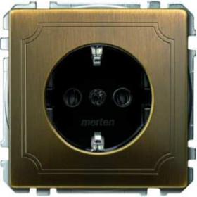 Розетка Merten System Design Античная латунь MTN2000-4143 IP20