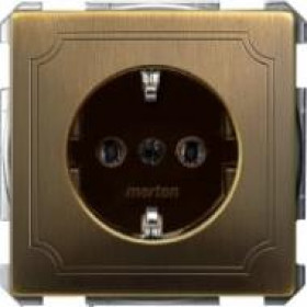 Розетка Merten System Design Античная латунь MTN2301-4143 IP20