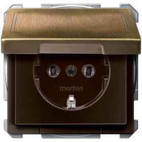 Розетка Merten System Design Античная латунь MTN2311-4143 IP20